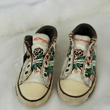 Ed Hardy women shoes fabric lace up size 8