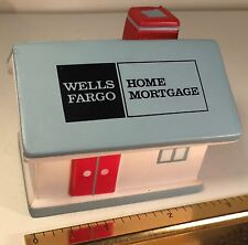 WELLS FARGO HOME MORTGAGE FOAM RUBBER HOUSE BANKING COLLECTIBLE FREE SHIPPING