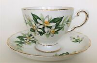 vintage TUSCAN Bridal Flower (Orange Blossom) - teacup & saucer