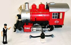 LGB COCA COLA LOCOMOTIVE WITH SMOKE - CAB LED LIGHTS - ENGINEER FIGURINE