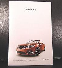 "Saab 9-3 Independence Edition Convertible Brochure ""Rarefied Air"""