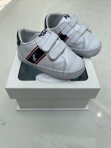 Polo Ralph Lauren Boys White Crib Shoes Infant 4
