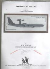"Cross Stitch Kit ""Boeing E3D""  Size 18 x 6.4 inch Kit Contains Aida,Thread, Need"