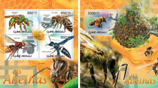 Bees Bienen Insects Fauna Guinea-Bissau MNH stamp set
