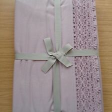 JOHN LEWIS CROCHET BORDER THROW 100% COTTON IN PALE PINK RRP £60.00