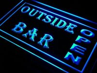 i647-b Outside Bar Pub Club Open Beer Neon Light Sign