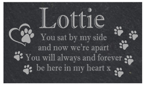 Personalised Slate Pet Memorial sign / plaque,Dog, Cat, Rabbit
