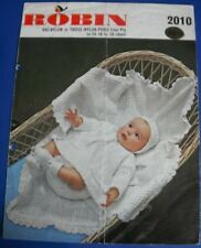 Robin Baby Layette Knitting Pattern 2010