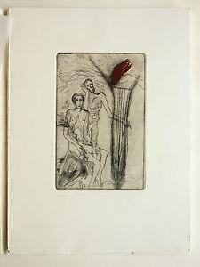 Paladino Mimmo (Paduli,1948) Puntasecca - Cartella Atelier Upiglio N.3 (1986)