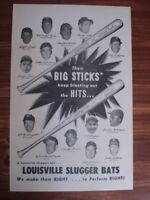 Vintage Louisville Slugger Poster, Their Big Sticks keep blasting the hits