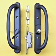 Amesbury Handle Patio Door Black with Key And Mortise Lock