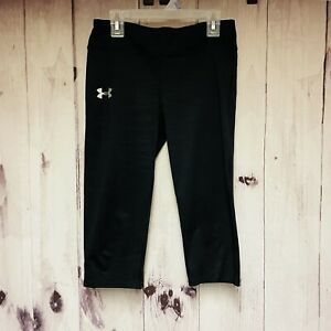 Under Armour Girls Youth Large Black Leggings Fitted