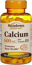 Sundown Calcium 600 mg + Vitamin D Tabs - 120 ct