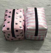 Victoria's Secret Cosmetics / Makeup Bag x 2 - Classic Pink - NEW - UK SELLER 💕