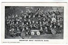 Brompton Boys Institute Band - Photo Postcard c1902 / Gillingham
