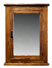 "Rustic Mission Recessed Medicine Cabinet /26""W x 33""H / Walnut Finish"