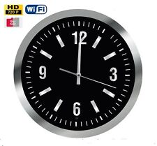 Wall Clock with Wi-Fi and Hidden Spy Motion Detection Camera