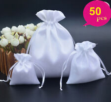 50x Silk Satin Wedding Drawstring Gift Favor Sack Bag Jewelry Wig Packing Pouch