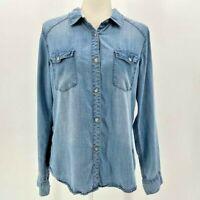 Harper Denim Button Shirt Women's Large