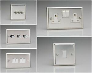 Varilight Classic Polished Chrome Range - White Inserts & White Switches