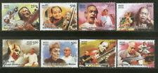 INDIA 2014 Music Musicians Musical Instrument stamp set 8v MNH