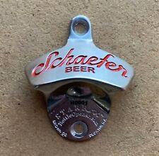 """Deep Engraved Stainless-Steel Schaefer Beer Starr """"X"""" bottle opener (New in Box)"""
