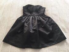 Juniors' Xhilaration Black Empire Waist Strapless Satin Party Dress Sz XS