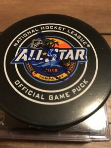 Alex Ovechkin Signed  2018 Allstar Official game Puck