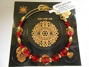 Alex and Ani Color Palette Poppy Bangle Shiny Gold NWTBC