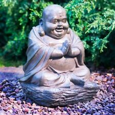 Laughing Buddha with Solar Light- Stone Effect- Great addition for your home.