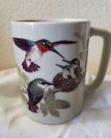 Vintage Otagiri Japan Hummingbird Floral Coffee Cup Mug