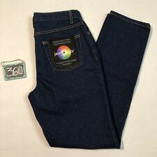 Jeanology Collection Women's Size 6 Dark Wash Tapered Leg Mid Rise Jeans 360
