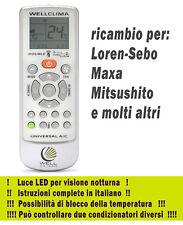 Telecomando condizionatore Loren-Sebo Maxa Mitsushito clima pompa di calore