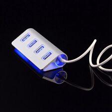4 Port USB 2.0 Multi HUB Splitter Aluminum Adapter High Speed For PC Top s Hot