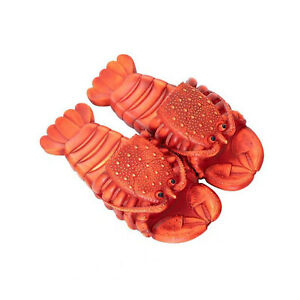Funny Novely Sandals Lobster Summer Flip Flops Beach Holiday Soft Design Slipper