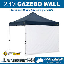 Oztrail 2.4m Gazebo Solid Wall White Deluxe Marquee Side Walls Canopy