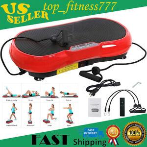 US Full Body Vibration Plate Platform Exercise Machine Plate Massager Fitness