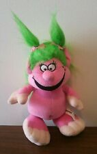 """Pink Girl Troll with Green Hair 8.5"""" Plush Doll Commonwealth 2005 Rare!"""