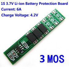 1S 3.7V 4.2V 6A Li-ion ion Lithium Battery 18650 BMS Protection PCB Board Cell
