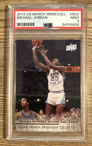 2014 Upper Deck March Madness Collection #MJ5 Michael Jordan HOF PSA 9