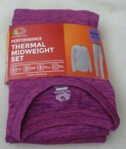 New Girls  XL Pink  (14/16) Performance Thermal Underwear Set Shirt Pants