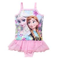 Kids Toddler Girls Frozen Swimwear Bikini Bathing Tutus Bathrobes Swimsuit 2-9Y