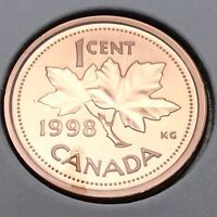 1998 Canada Nickel Specimen 1 One Cent Penny Canadian Uncirculated Coin E188