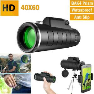 40X60 Monocular Telescope Portable Camera Zoom Starscope Full HD Hiking Hunting