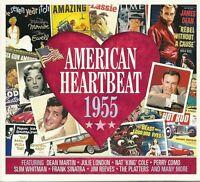 AMERICAN HEARTBEAT 1955 - 2 CD BOX SET - NAT KING COLE & MORE