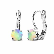 Earrings Enriched with Swarovski Crystals Fappac Aurora Borealis 1 Stones Drop
