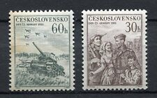 37036) CZECHOSLOVAKIA 1955 MNH** Army Day 2v