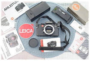 Leica R4 Leitz Portugal 35mm Film Camera w/ Boxed Databack 2 DB2 Stripe & Papers