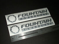 "Fountain Boats Silver Decal 12"" Stickers (Pair)"