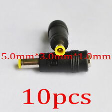 10pcs DC Power Jack 5.5 x 2.1mm Female To 5.0 x 3.0 x 1.0mm Male Plug adapter